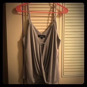 Lulus sexy gray going out tank